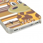 Cute Giraffe Loew Pattern PC Protective Back Case for Iphone 4 / 4S - Coffee