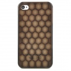 Classic Honeycomb Plastic Back Case for Iphone 4 / 4S - Black