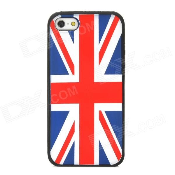 Protective UK National Flag Pattern Silicone Case for Iphone 5 - Black protective uk national flag pattern silicone case for iphone 5 black