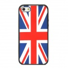 Protective UK National Flag Pattern Silicone Case for Iphone 5 - Black