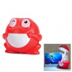 Rechargeable Cute Frog Style Table Night Lamp - Red + White