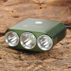 UltraFire H-3WYS 1000lm 5-Mode White Bicycle Light w/ Cree XM-L T6 + 2 x XP-G R5 - Green (4 x 18650)