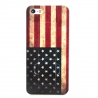 Protective Retro Style USA Flag Pattern Back Case w/ Stand for Iphone 5 - Red + Blue