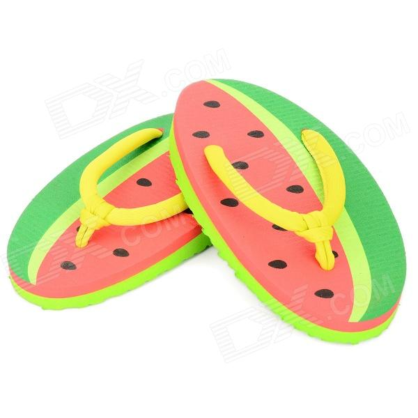Lovely Watermelon Style EVA Flip-Flop Slippers - Multicolor (Pair)