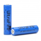 UltraFire 3.7V 2500mAh Lithium 18650 Batteries - Blue + Black (2 PCS)