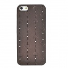 Protective Heart Shape Rhinestone Decoration Back Case for Iphone 5 - Brown