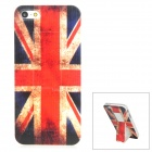 Protective Retro Style UK Flag Pattern Back Case for Iphone 5 - Red + Blue