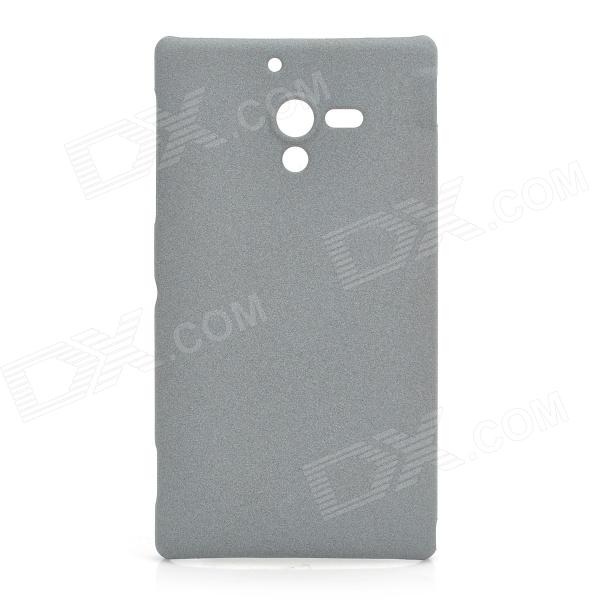 Protective Frosted PC Back Cover Case for Sony Xperia ZL L35H / LT35h - Grey
