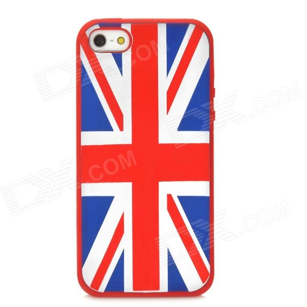 Protective UK National Flag Silicone Case for Iphone 5 - Red protective uk national flag pattern silicone case for iphone 5 black
