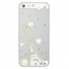 Protective Eiffel Tower Style Crystal Back Case for Iphone 5 - Transparent
