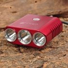 UltraFire H-3WYS Cree XM-L T6 + 2 x XP-G R5 1000lm 5-Mode White Bicycle Light - Red (4 x 18650)