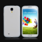 Protective Soft Silicone Back Case for Samsung i9500 - Translucent White