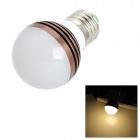 E27 3W 180lm 3000K Warm White Light LED Bulb -Brown + White + Silver (AC 85~265V)
