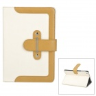Stilvolle PU Leder Stand Case w / Card Slots für iPad Mini - White + Light Brown