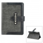 Stylish PU Leather Stand Case w/ Card Slots for iPad Mini - Black