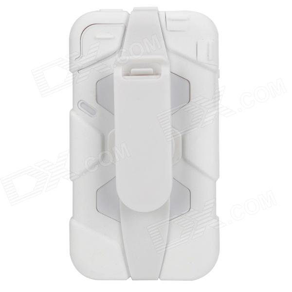 Robot Style Protective Plastic & Silicone Case for Iphone 4 / 4S - White защитное стекло для iphone 6 6s inter step is tg ipho6s3dw 000b201