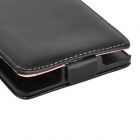 Protection PU Top Case en cuir Flip-Open pour Sony Xperia Z L36h - noir