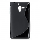 Protective TPU Back Case for Sony Xperia ZL L35h / LT35h - Black
