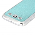 Protective Shinning Plastic Back Case for Samsung Galaxy S3 i9300 - Blue + Silver