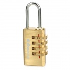 Travel Icons TE130N 4-Digit Copper PIN Combination Pad Lock - Golden