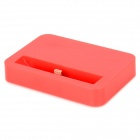 8-Pin Lightning Charging Dock for iPhone 5 / iPod Touch 5 / iPod Nano 7 - Red