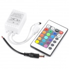IR 72W RGB LED Control Driver Unit w/ Remote for LED Light Strip