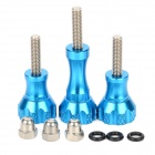 HR51-BL CNC Aluminum Spare Screw Kit for GoPro / SJ4000 - Blue (3PCS)