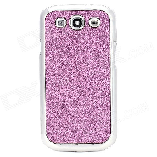 Protective Shinning Plastic Back Case for Samsung Galaxy S3 i9300 - Purple + Silver