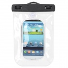 Universal Inflatable Waterproof Bag with Lanyard for Iphone / Cell Phone - White + Black