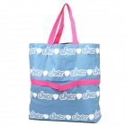 MXZ-009 Printing Cotton Handbag / Single-shoulder Bag for Women - Blue