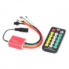 Waterproof 3-Ch IR Remote Controller for Single-Color LED Light Strip - Black + Red + Yellow + White