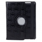 Creative Spider Print Style 360 Degree Rotatable Case for iPad 2/3/4 - Black