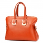 Fashion T11 PU Leather Handbag for Women - Brownish Red