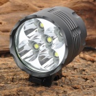 Buy UltraFire XL-3A19 1500lm 3-Mode White Bicycle Light Headlamp 5 x Cree XM-L T6 - Grey (6 18650)