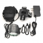 UltraFire XL-3A19 1500lm 3-Mode White Bicycle Light Headlamp w/ 5 x Cree XM-L T6 - Grey (6 x 18650)