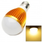 E27 7W 420lm 3000K 7-LED Warm White Light Bulb - Golden (AC 85-265V)