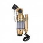822 Windproof Aluminum Alloy Straight Flame Butane Jet Lighter - Brass Color