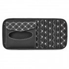 Multifunctional Car Sunvisor Sunshade / Tissue Box Case / CD Holder - Black + White