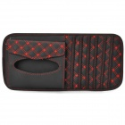 Multifunctional Car Sunvisor Sunshade / Tissue Box Case / CD Holder - Black + Red