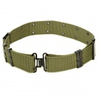 CORDURA Multihole Military Tactical Outdoor Nylon Belt w/ Iron Buckle - Army Green