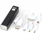 Mini Multi-function 2200mAh Mobile Power Bank for iPhone / Samsung / HTC - Black