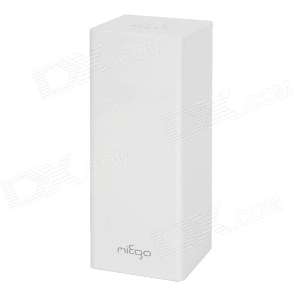 Genuine Miego External Portable Dual-USB 10400mAh Power Bank for Iphone / Ipad / Ipod - White portable 6000mah power bank w flashlight for mobile tablet pc more pink white