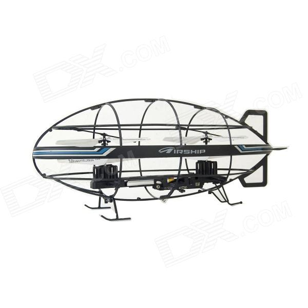 SH 6045 3.5-CH Double Shaft Remote Control Airship w/ Gyro - Black + White