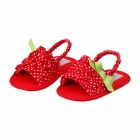 Lovely White Dot Princess Shoes for Female Baby 9~12 Months - Red