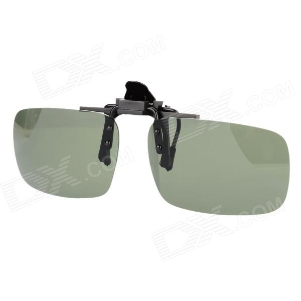 SENLAN 1001 Outdoor Sports Clip-On Thicken TAC Polarized Lens UV Protection Sunglasses - Black