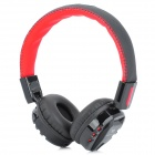YY-206 Transformers Pattern Wireless Stereo Headphone w/ TF / FM - Black + Red (3.5mm Jack)