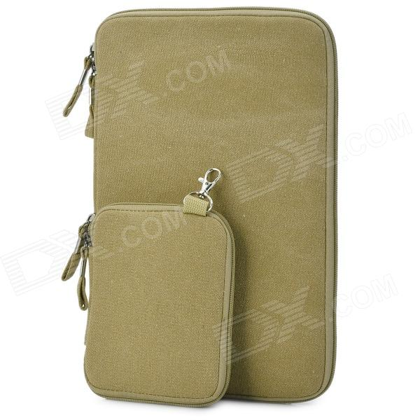 Protective 11.6'' Canvas Laptop Sleeves for Air 11.6 - Deep Beige