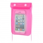 Waterproof Bag w/ Strap for 5'' Cell Phone + Iphone 5 / 4 - Pink