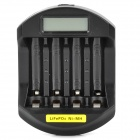"Soshine SC-C5 2.0 Intelligent 1.3"" LCD AC Power 14500 / 10440 / AA / AAA Battery Charger - Black"