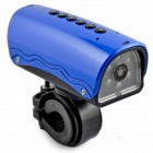 YDDVF Bike Mount 300KP Wide Angle Sports DVR Camcorder w/ TF / FM / Speaker / Flashlight - Blue